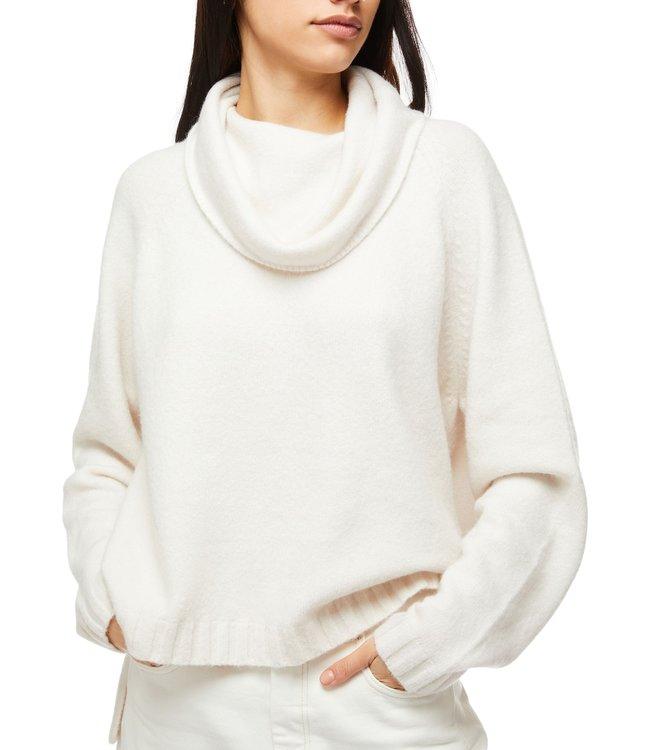 Ted Baker Julitta Fluffy Oversized Knitwear White