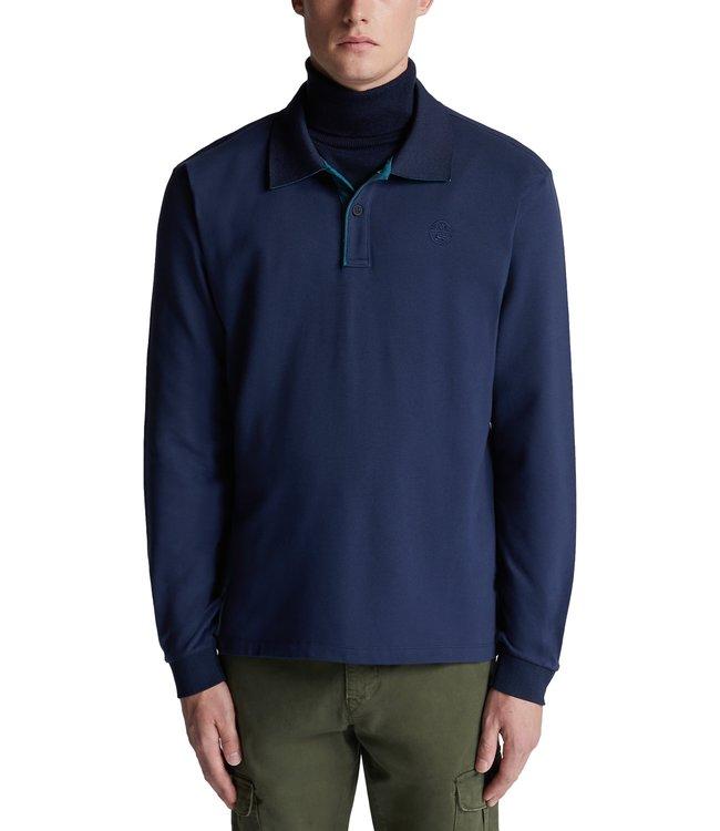 North Sails Stretch Piqué Polo Shirt Navy Blue