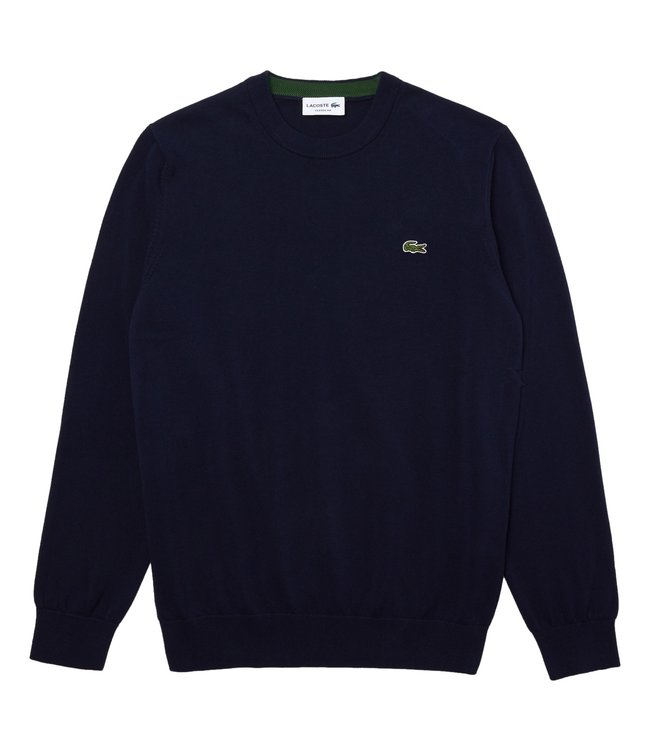 Lacoste Round Neck Knitwear Classic Fit Navy Blue