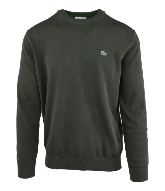 Lacoste Round Neck Knitwear Classic Fit  Khaki Green