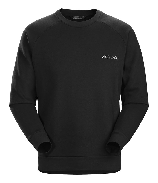 Arc'teryx Sweater Word Emblem Crew Men's Black