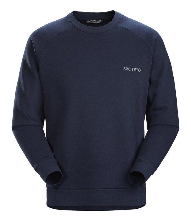 Arc'teryx Sweater Word Emblem Crew Men's Kingfisher