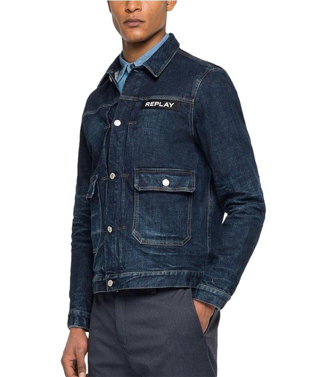 Replay Ajax Amsterdam Jeans Jacket Dark Blue
