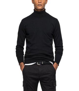 Replay Knitwear Turtleneck Black