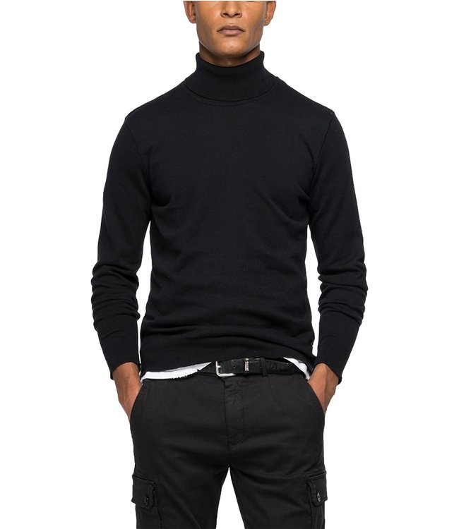 Replay Knitwear Turtleneck Sweater Black