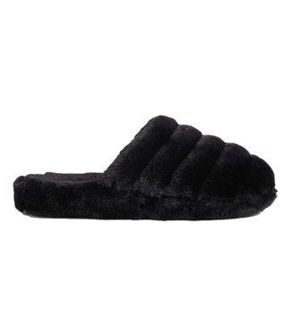 Ted Baker Faux Fur Mule Slipper Black