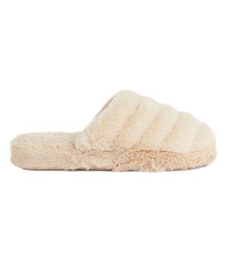 Ted Baker Faux Fur Mule Slipper Natural