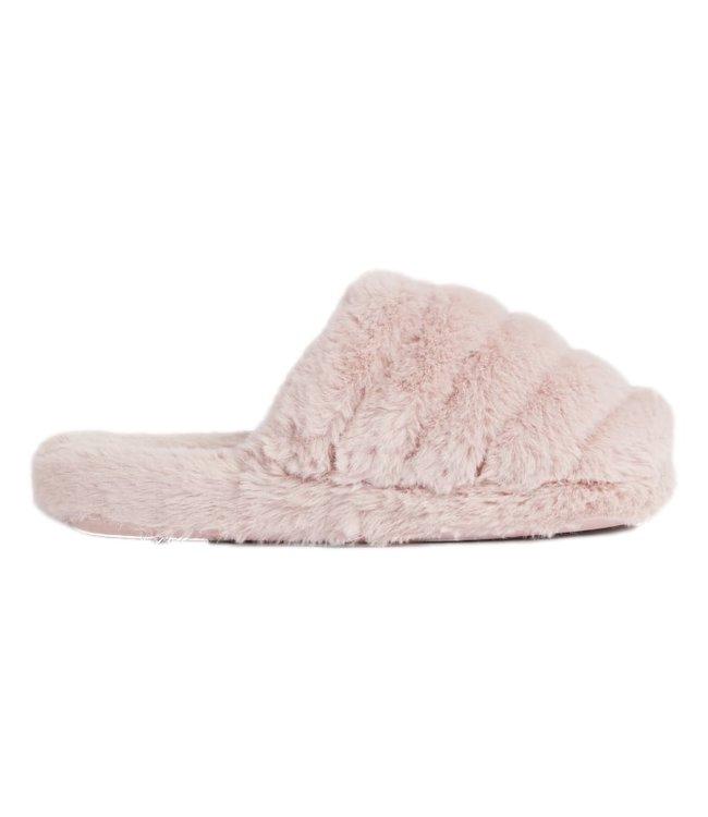 Ted Baker Faux Fur Mule Slipper Dusty Pink