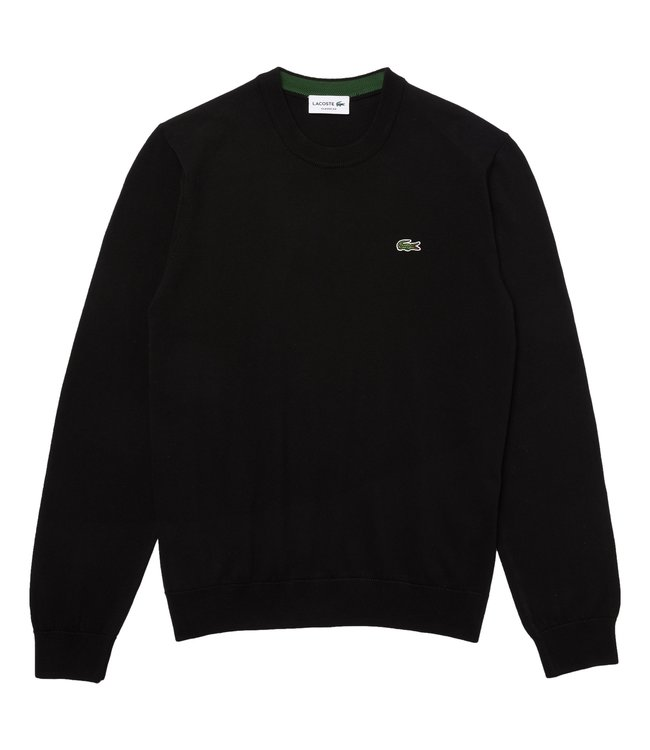 Lacoste Round Neck Knitwear Classic Fit Black