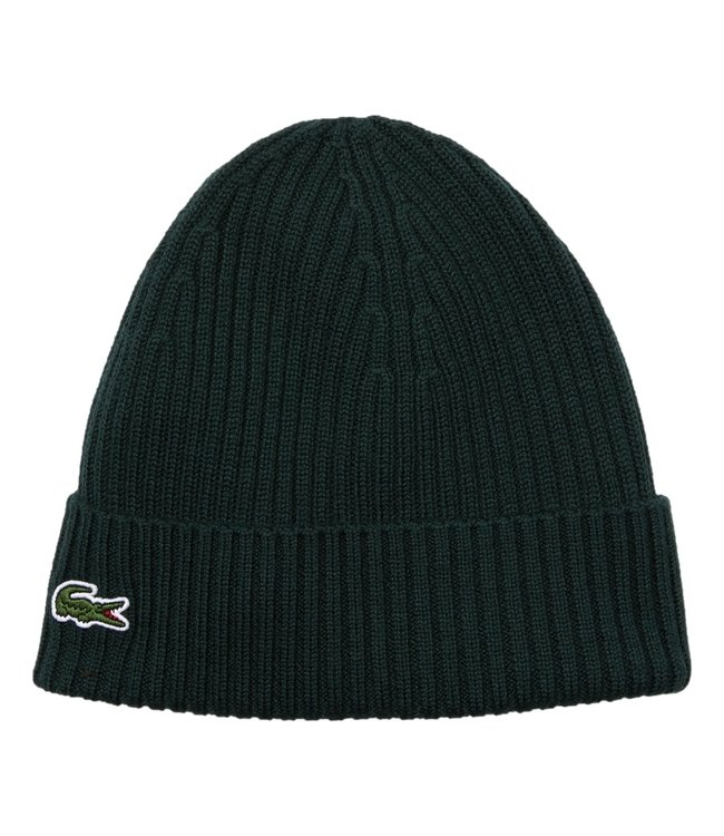 Lacoste Beanie Front Logo Green