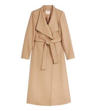 Ted Baker Rosell Long Length Wool Wrap Coat Camel