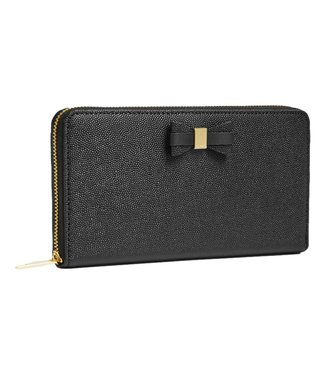 Ted Baker Aubriee Bow Zip Around Large Purse Black