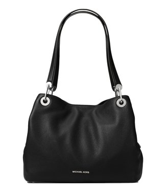 Michael Kors Raven Large Shoulder Tote Bag Leather Black