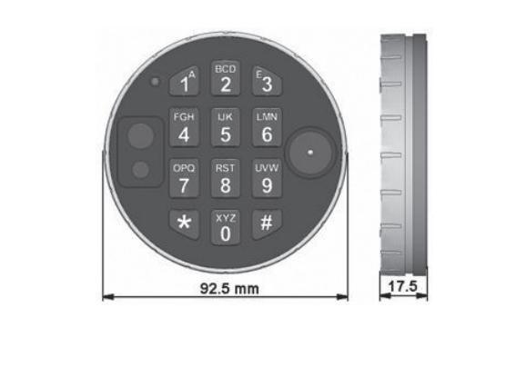 Zamek elektroniczny DE2030