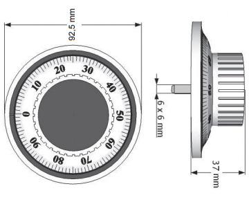 Zamek mechaniczny szyfrowy CS1790