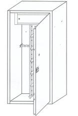 1231 Szafa na broń długą ze skarbczykiem i 4 półkami