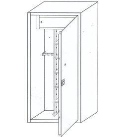 1231 Szafa na broń długą - skarbczyk, półki