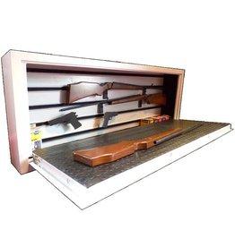 1669/S1  Szafa na broń z szybą kuloodporną pozioma