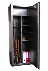 1761 Szafa na broń długą z półkami i dużym skarbczykiem