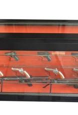 1724  Szafa na broń z szybą kuloodporną - pozioma