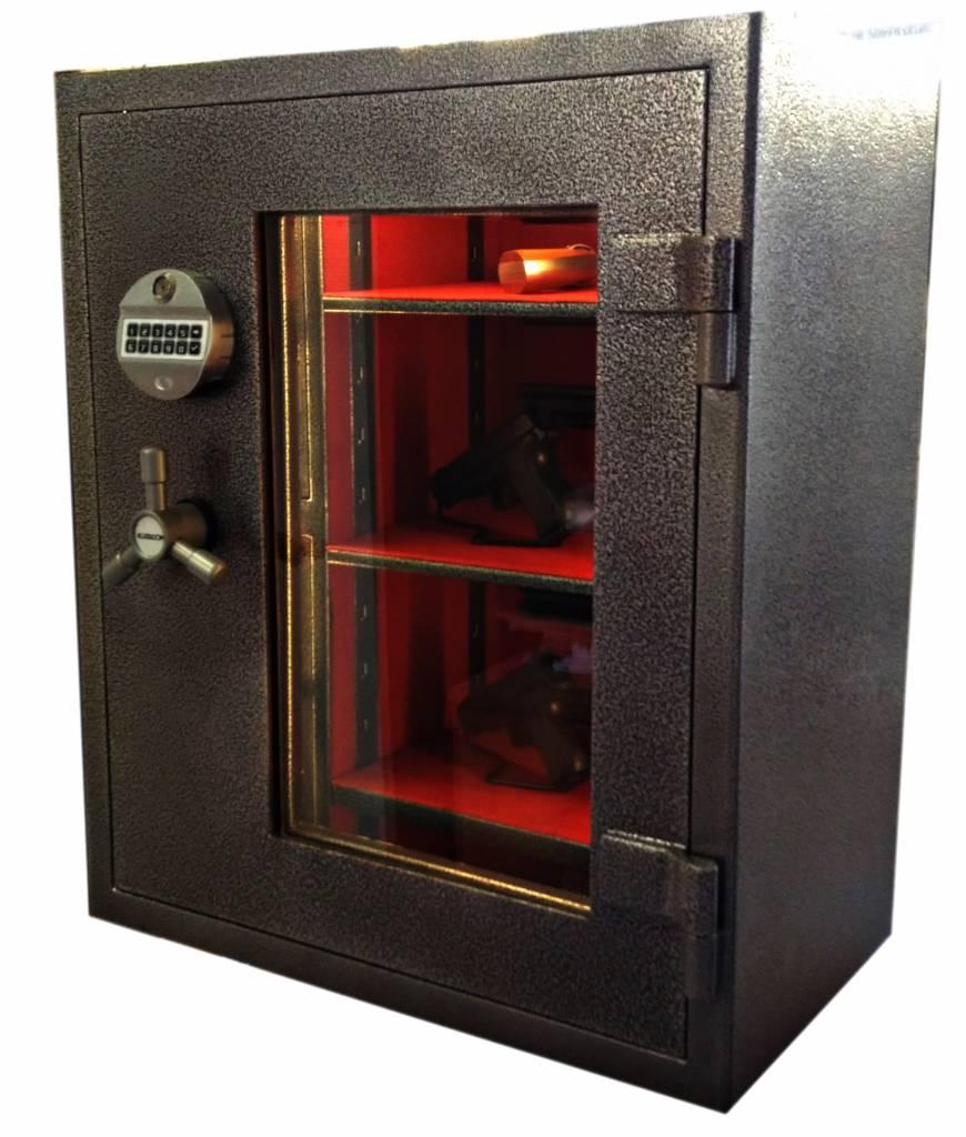 1732 Szafa na broń krótką i amunicję z szybą kuloodporną w drzwiach