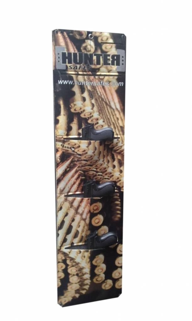 1396 Szafa S2 na broń długą ze skarbczykiem i trzema półkami
