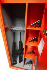 1063 Szafa na broń długą z dwoma skarbczykami i trzema półkami