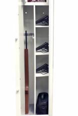 1766/28 Szafa na broń długą ze skarbczykiem i półkami