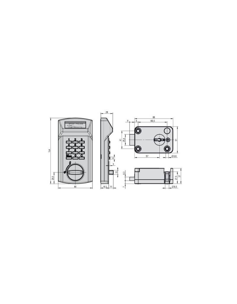 Zamek Elektroniczny TULOX 100 VDS klasa 2 EN 1300 B.
