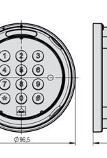 Zamek Elektroniczny SWINGLOX.  Klawiatura SWINGLOX chromowana