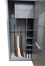 1400 Szafa na broń długą z 2 skarbczykami i 3 półkami