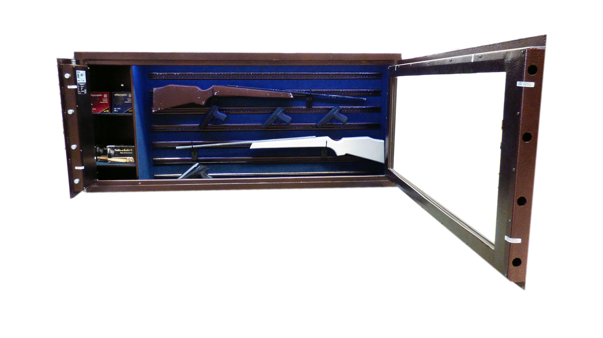 1752 Szafa na broń z szybą kuloodporną - pozioma