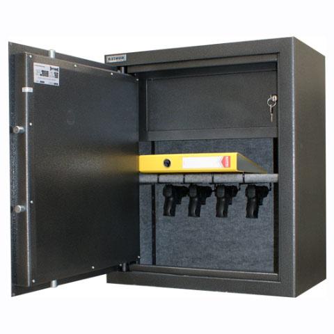 EU-1024/40 Szafa na broń krótką ze skarbczykiem - lewe drzwi, głębokość 40 cm