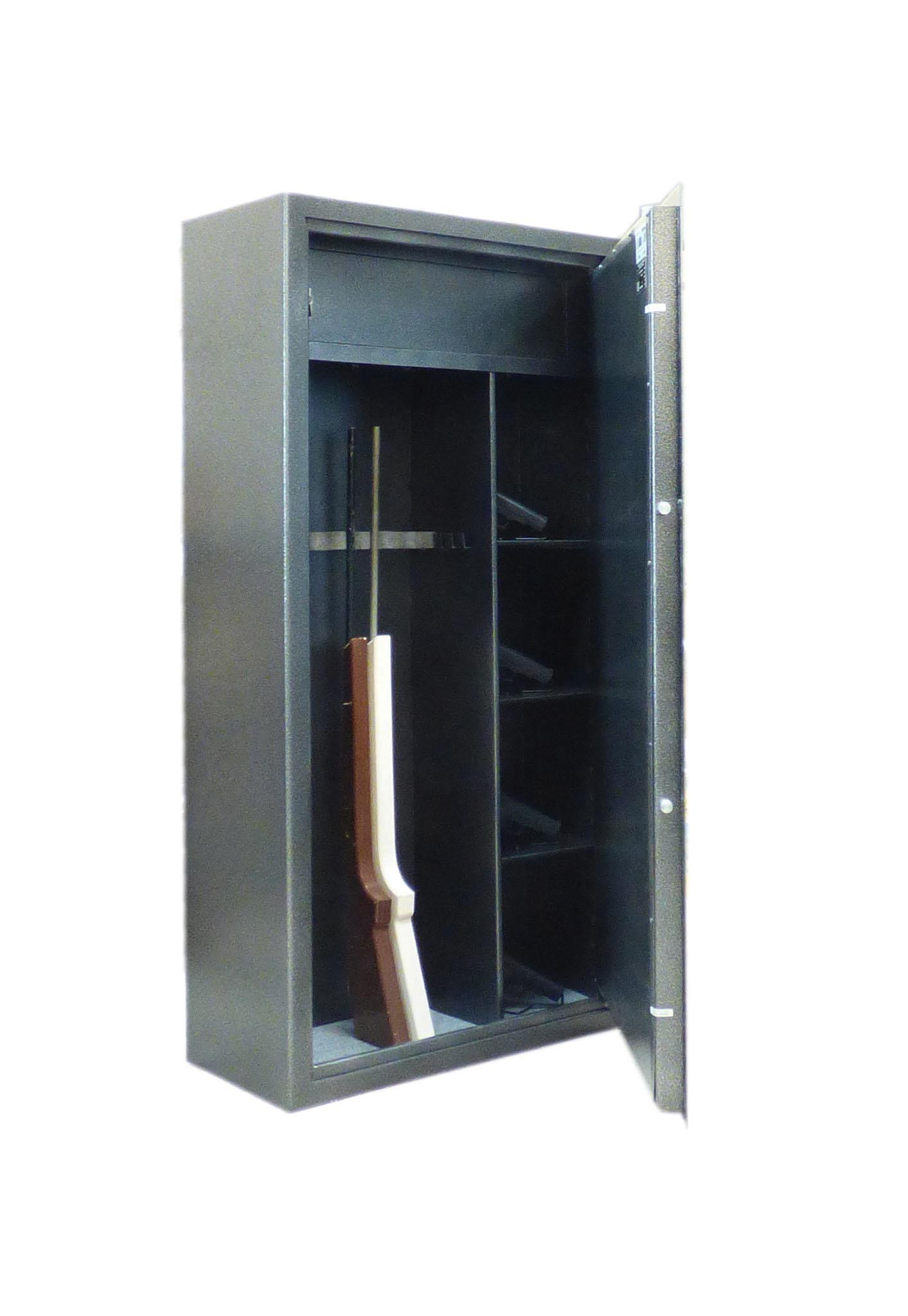 1065 Szafa na broń długą z półkami i skarbczykiem