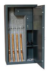 1345 Szafa na broń długą z trzema skarbczykami i półką