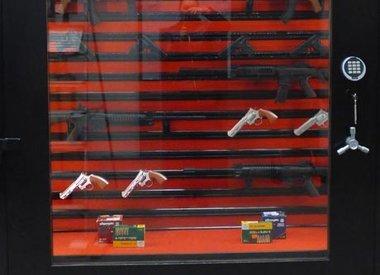 Szafa na broń z szybą PantzerGlass