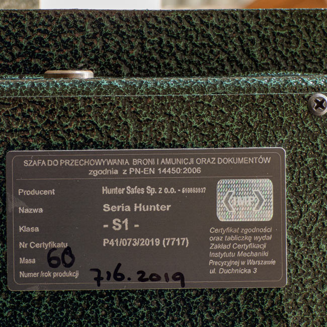 EU-1539/28 Szafa na broń S-1 IMP