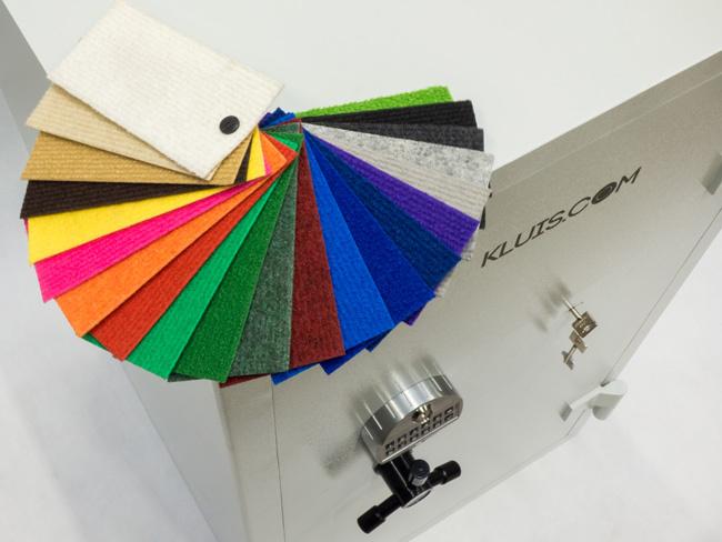 Kolorowa wykładzina filcowa do wnętrza sejfu lub szafy na broń