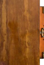 Sejf retro z wykończeniem w kolorze drewna