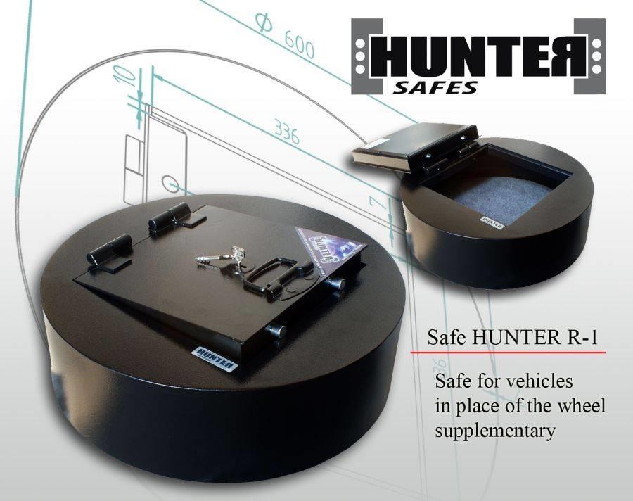 Sejf samochodowy zaprojektowany do montażu w miejsce koła zapasowego