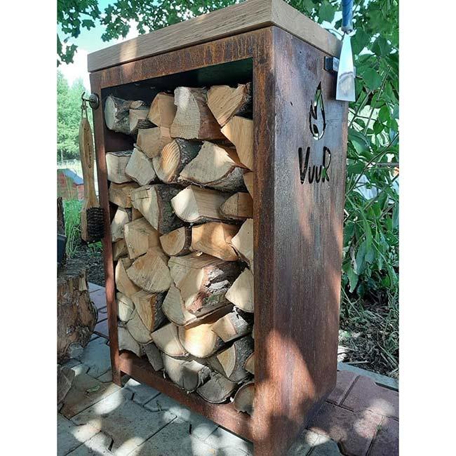 1883 Blok rzeźniczy / szafka Vuur na drewno do grilla Vuur