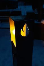 2039 Lampa Ogrodowa Corten z wkładem olejowym