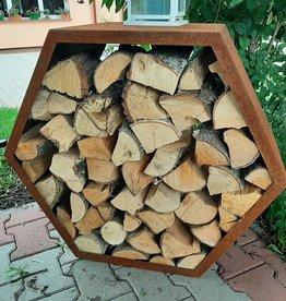 2021 Stojak na drewno - Heksagon 80