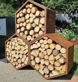 Stojak na drewno - Heksagon 1500