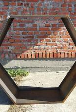 Stojak na drewno z blachy Corten - Heksagon 1500