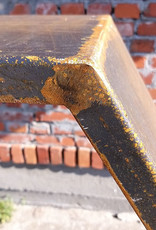 2042 Stojak na drewno z blachy Corten - Heksa 150