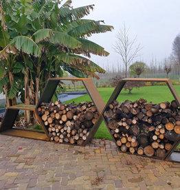 2042 Stojak na drewno - Heksagon 150