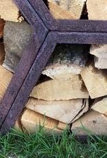2043 Stojak na drewno z blachy Corten - Trapez 150