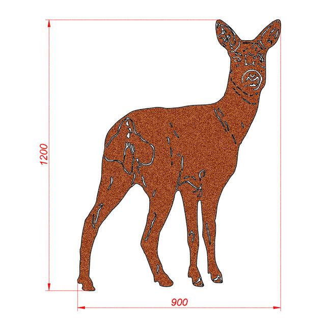 2034 Sarna. Figura ogrodowa z blachy Corten