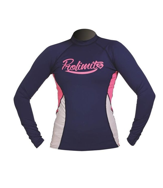 Rashguard Dames Pure Girl Navy lange mouw - Prolimit